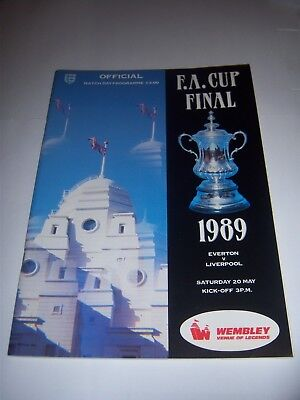 1989 FA CUP FINAL - EVERTON v LIVERPOOL - FOOTBALL PROGRAMME