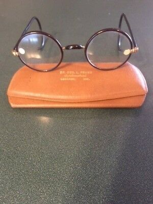 Antique  Windsor Eyeglasses W/Black Tortoise Celluloid Frames-Never Been Worn