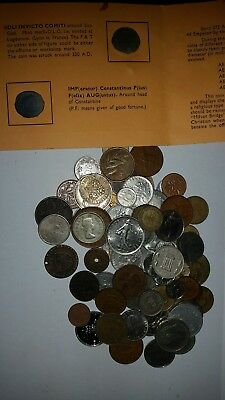Job Lot Collection Of Mixed World Coins & Tokens  As Seen