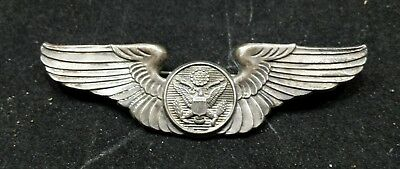 Ww2 U.s.army Air Corps Air Crew Wings Sterling  Pin Back