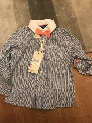 Mothercare Shirt And Bow Tie 9-12 Months Bnwt Baby Boys