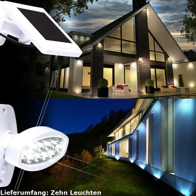 10 Set LED Solar Exterior Pared FOCOS PROYECTORES Lámpara BIG LIGHT