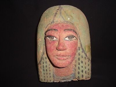 Rare Antique Ancient Egyptian Funeral wooden Mask Of Queen Nefertiti 1350-1338BC