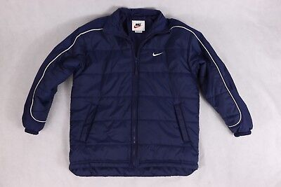 f09bb1070 VINTAGE NIKE JACKET Puffer Winter Coat Navy Blue Sz Medium - $35.00 ...