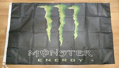Monster Energy Drink 3' x 5' Flag. Free shipping within the US!!US Seller!!!