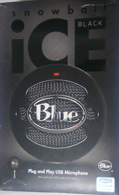 Blue Snowball Ice Microphone USB with Adjustable Stand (BLACK)