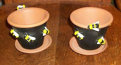 Department 56 Bumble Bee Honey Pot Garden Season Time Spring Planting Terracotta