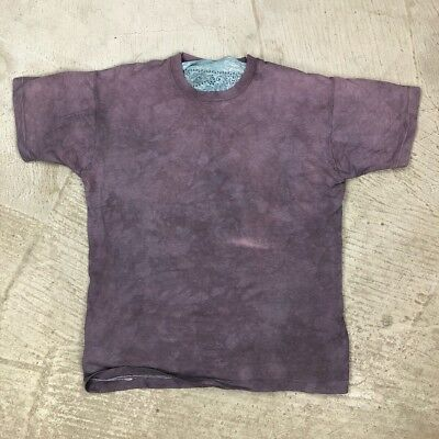Basic Blank Faded Bleached Then Dyed T Shirt Faded Single Stitch USA Made Beat