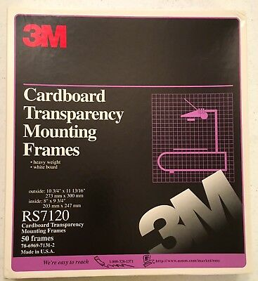 3M CARDBOARD TRANSPARENCY MOUNTING FRAMES RS 7120 - Never Used