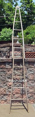 EXCEPTIONAL Antique Wood American 4th July Flag Pole Ladder ~ Lodge Military