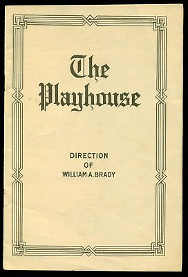 1917 The Playhouse playbill New York The Man Who Came Back NABISCO