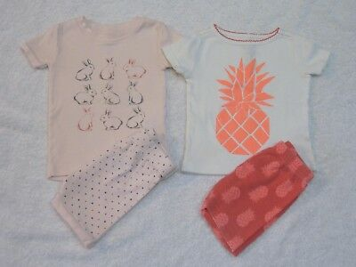 2 Sets of Baby Girls' 2-Piece Snug Fit Pajamas 12-18 Months Old Navy Crazy 8