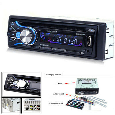 Car Bluetooth DVD CD Player Radio Video AUX MP3 Player Super Shock Bass Function