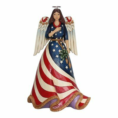 Enesco Jim Shore Heartwood Creek Patriotic Angel w/Flag Dress