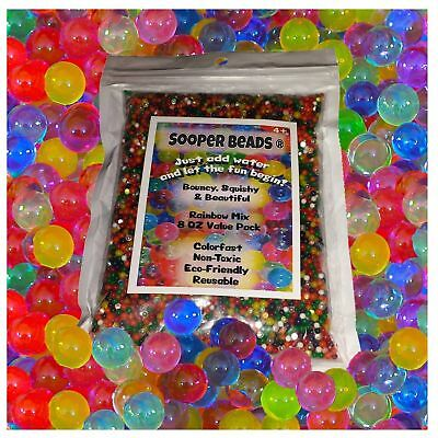 Hot Water Beads (1,200 beads) Sooper Beads for Orbeez Spa Refill Sensory Toy