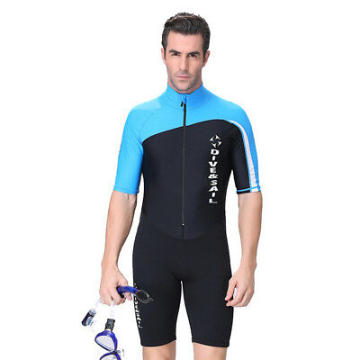 883fe964ab Men s 1mm Dive Skin Suit Neoprene Wetsuit Rash Guard Breathable Sun  Protection