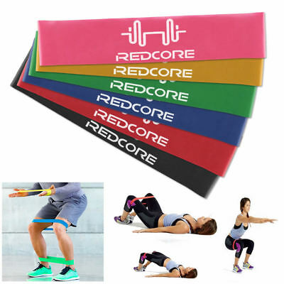 Set 6 Resistance Bands Loop Exercise Workout Cross Fit Fitness Stretching Yoga