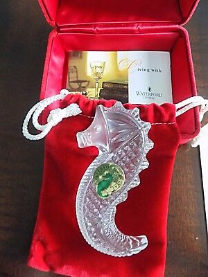 Waterford Society Seahorse Handcooler Paper Weight   2004   NIB