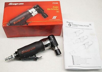 "NEW Snap-on PT210A 1/4"" Pneumatic Angle Die Grinder 22,000 RPM Air Grinder"