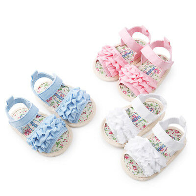 Sweet Girls Flower Sandals Shoe Casual Sneaker Anti-slip Soft Sole Toddler Shoes
