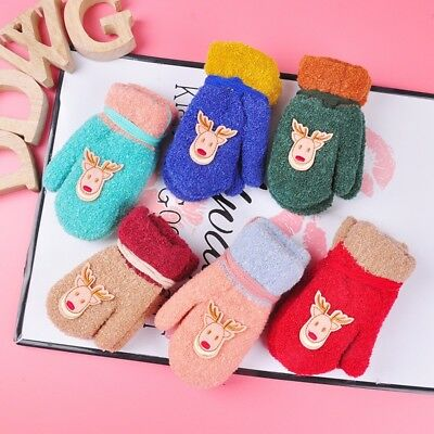 Lovely Toddler Kid Children Baby Soft Gloves Winter Warm Stretchy Knitted Mitten