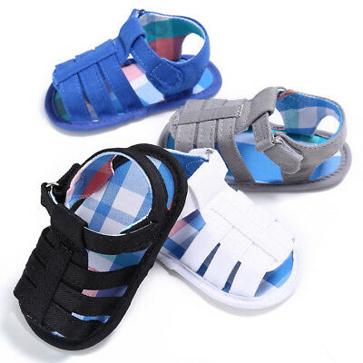 Unisex Baby Infant Kids Girl Boys Summer Soft Sole Crib Toddler Sandals Shoes