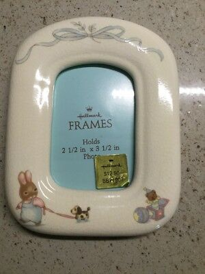 Hallmark Baby Frame, Rabbit/Dog Baby, 5 1/4 x 4 1/8 for pictures 2 1/2 x 3 1/2