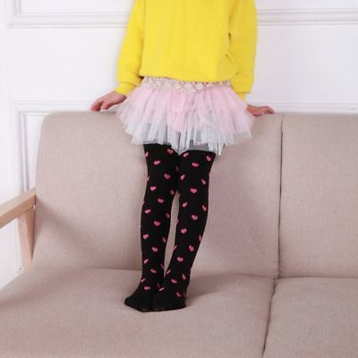 Girls Kids Pantyhose Tights Full Foot Toddler Pantyhose Love Heart Trousers
