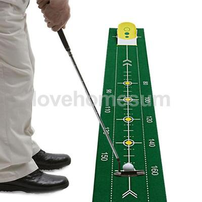 Golf Putt-Training, Puttingmatte Übungsmatte mit Putter Trainingshilfe