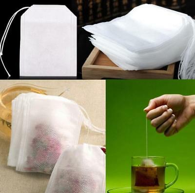 400pcs Empty TEABAGS Non-Woven String Heat Seal Filter Paper Herb Loose Tea Bag