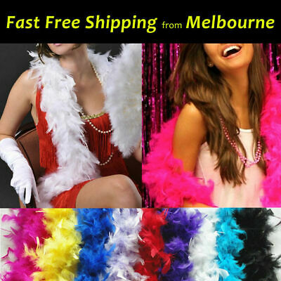Ostrich Feather Boa Strips Lei Fancy Party Decor Dance Dress Up Craft Wedding 2M