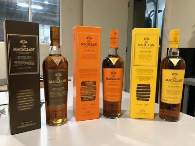 Macallan Edition 1 2 3 Limited Discontinued Rare