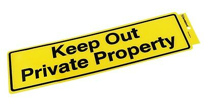 "Sandleford ""KEEP OUT PRIVATE PROPERTY"" SELF ADHESIVE SIGN 330x95mm *Aust Brand"