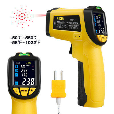 URCERI Infrared Thermometer IR-817 Digital IR Temperature Gun Non Contact Laser