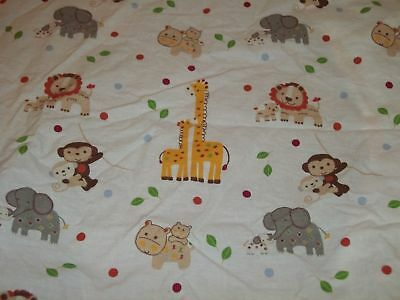 Kidsline Safari Jungle Zoo Animals Two By Two Noah's Ark Fitted Crib Sheet