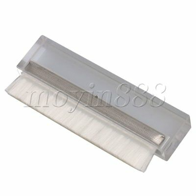 10.2x4x1.45cm Acrylic Crystal Brush for Vinyl Recorders Disc Cleaning