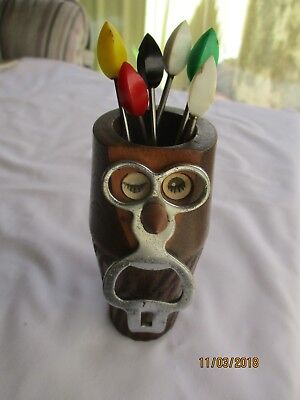 Unique 1970S Hors D'oeuvres ? With Pickle Forks! - In The Form Of A Winking Owl