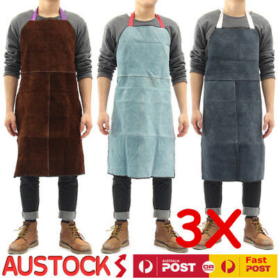 3PCWelding Apron Heat Insulation Cow Leather cowhide Welder Protection Carpenter