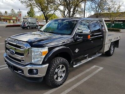 2015 Ford F-350 Lariat Crew Cab Pickup 4-Door 2015 FORD F-350 LARIAT CREW CAB 4x4 DIESEL w/FLAT BED, LEATHER, NAVIGATION, ROOF