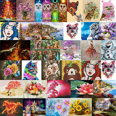 DIY 5D Diamond Painting Embroidery Flower Animal Cross Stitch Home Decor Gift