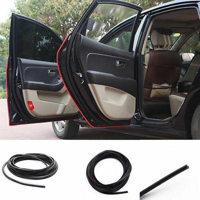 10M Black Car Door Moulding Trim Rubber Strip Scratch Protector Edge Guard