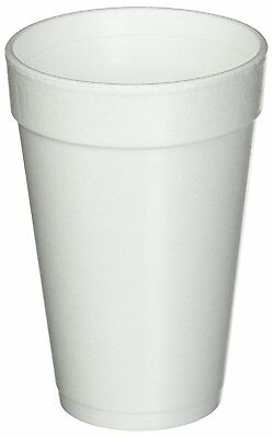 Dart 16 Oz. White Disposable Drink Foam Cups Hot and Cold Coffee Cup Pack of 40
