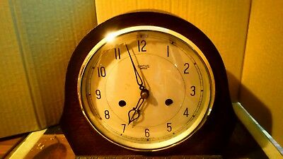 Smiths Enfield striking mantel clock in working condition - see video YouTube