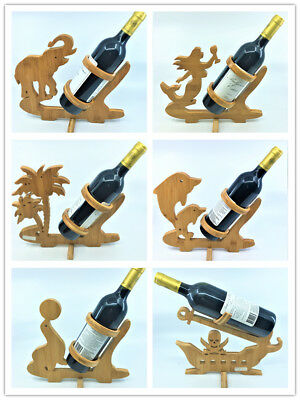 Wine Bottle Holder Bamboo Wine Rack Wine Shelf with different animal shape au
