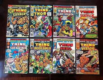 MARVEL TWO IN ONE lot of 20 comics bronze age