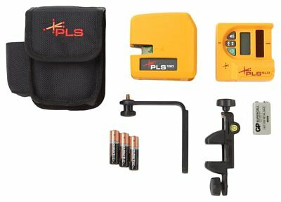 PLS180 Red Cross Line Laser Level System with Detector, PLS-60521N by Pacific