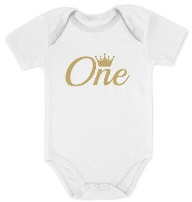 Baby Girl / Boy First Birthday Gift One Year Old Birthday Crown Baby Bodysuit