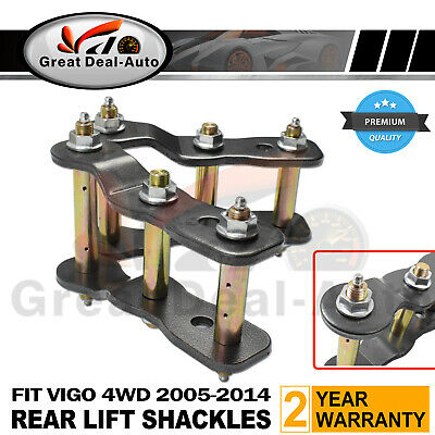 "2"" INCH LIFT REAR EXTENDED GREASABLE SHACKLES for TOYOTA HILUX VIGO 05-2016 KIT"