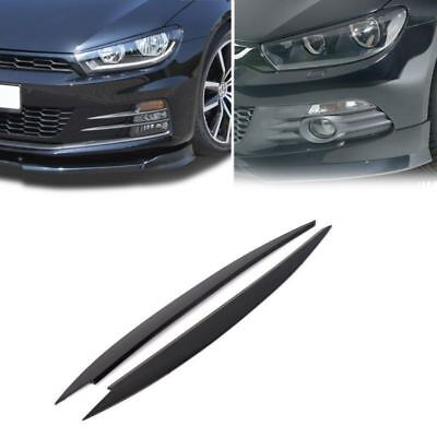 For VW Golf 7 MK7 Black Headlight Eyebrow Eyelids Cover Trim Decor 2 PCS