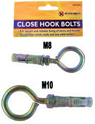 2 X Anchor Bolts Rawl Type Masonry Heavy Duty Wall Hook Shield M6 M8 M10 M12 M16